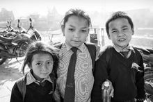 Kathmandu, Nepal, boy, child, children, girl, school uniforms