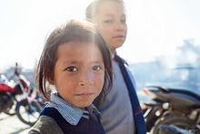 Kathmandu, Nepal, child, girl, portrait