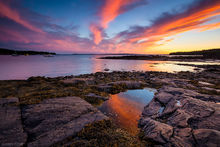 harbor, tide pool, sunset, Seal Cove, Acadia National Park, Acadia, Mount Desert Island, Maine, coast