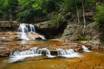 St Marys Falls, waterfall, George Washington National Forest, Blue Ridge Parkway, Virginia, St Marys Wilderness