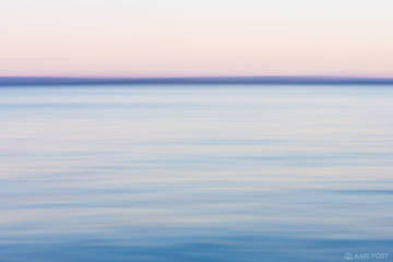 NY, New York, North America, Oneida Lake, USA, United States, Upstate New York, abstract, blur, blue, lake, minimalist, pink, sunset, water