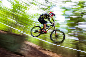 Attitash Mountain Resort, ESC, Eastern States Cup, NH, New Hampshire, Santa Cruz Bicycles, USA, United States, biking, cycling, downhill, jump, mountain biking, mtb, pan blur, pan shot