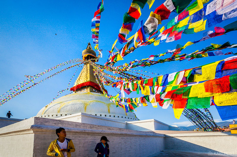 Kathmandu, Nepal, Nepali, Stupa Boudhanath, colorful, prayer flags, stupa