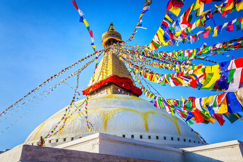 Kathmandu, Nepal, Stupa Boudhanath, colorful, prayer flags, stupa