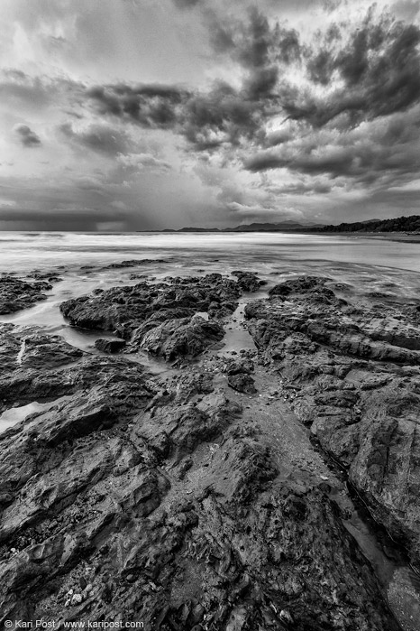 costa rica, clouds, waves, tide pool, beach, pacific coast, nicoya peninsula