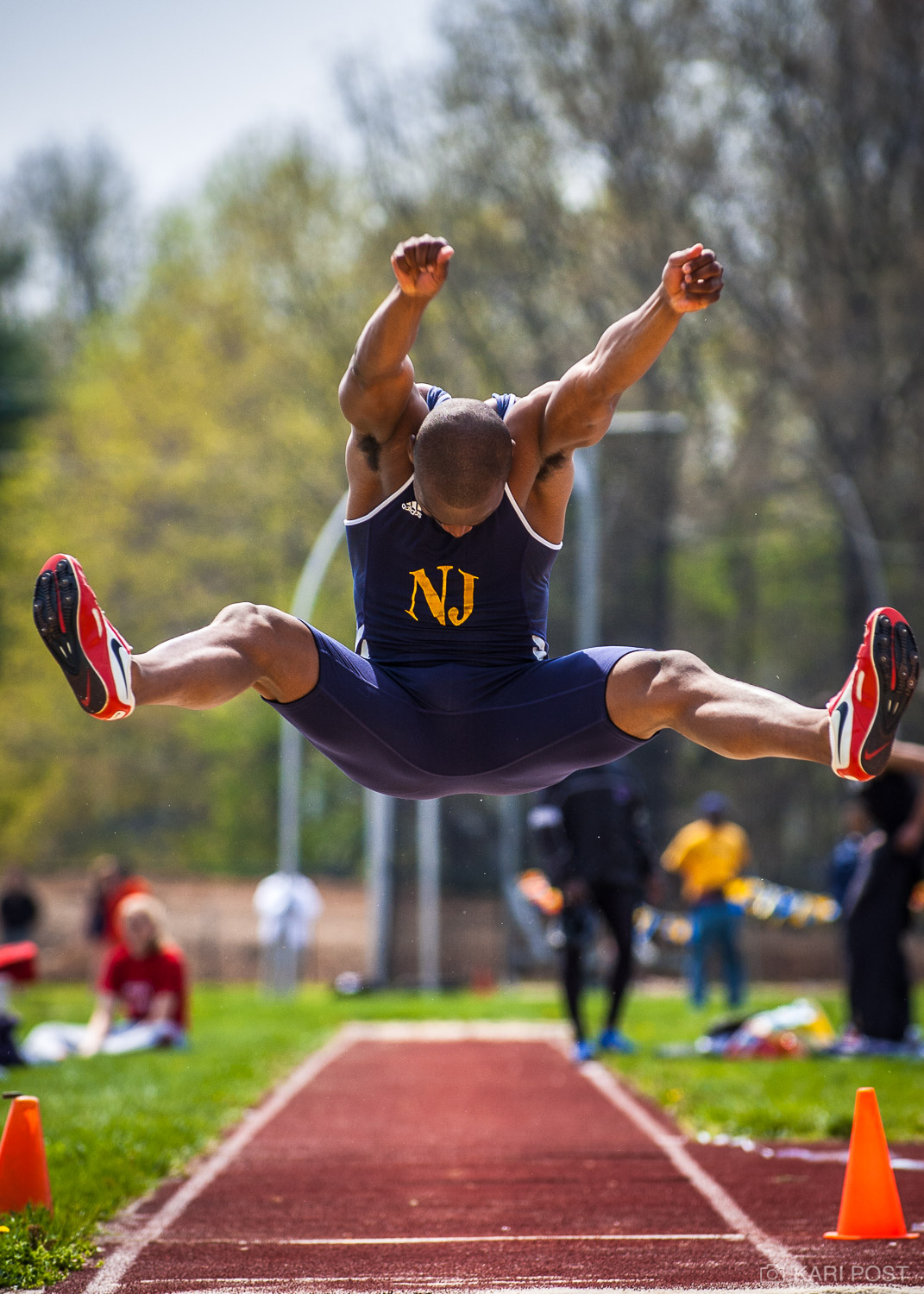 TCNJ, TCNJ Lions, The College of New Jersey, Track and Field, athletics, college, sports, Kevin Jones, track and field, long jump, photo
