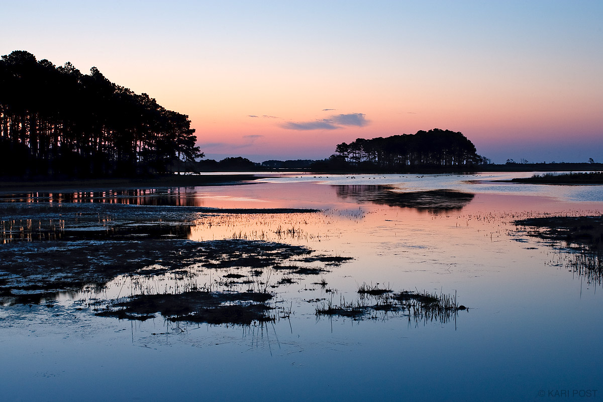 Chincoteague, Chincoteague National Wildlife Refuge, sunrise, marsh, Virginia, photo