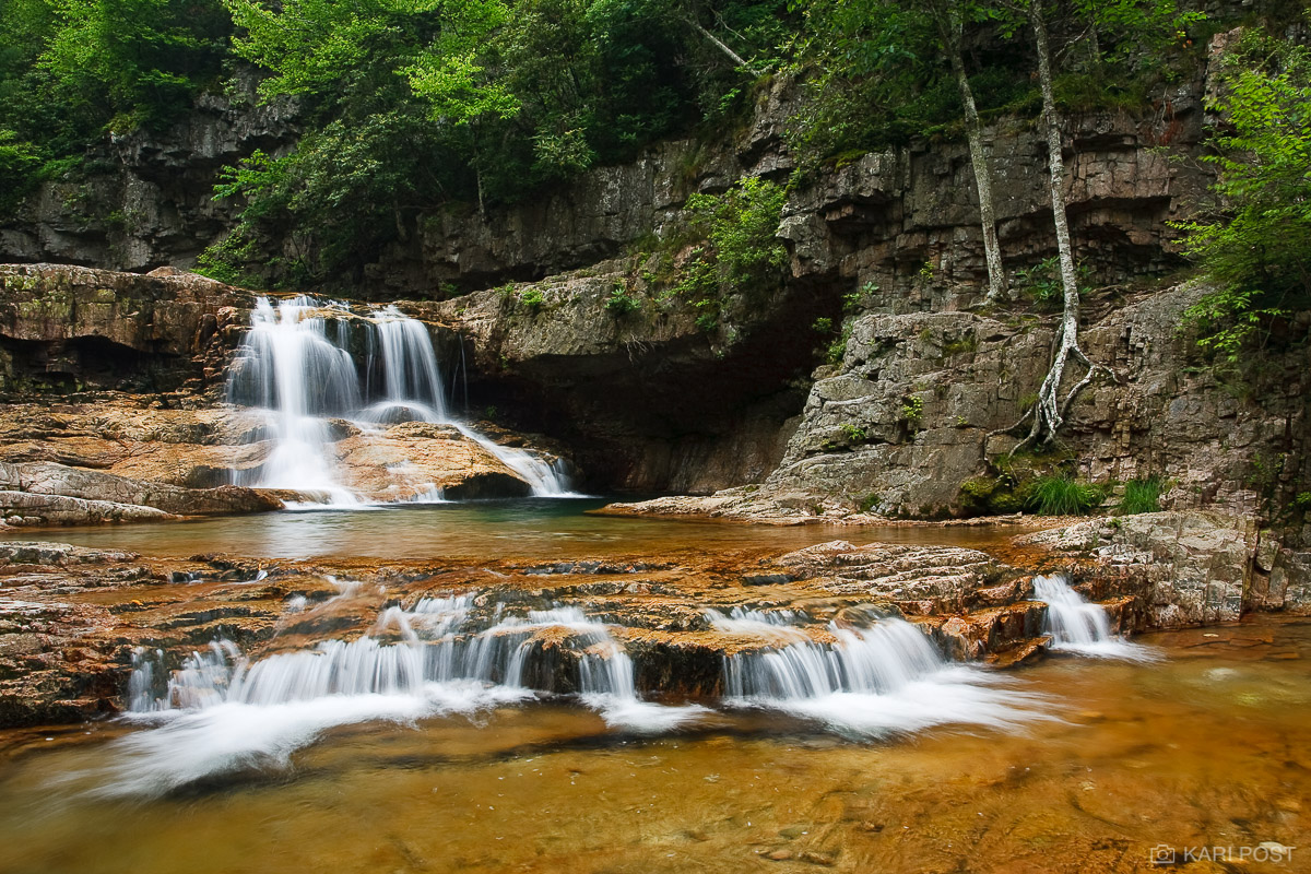 St Marys Falls, waterfall, George Washington National Forest, Blue Ridge Parkway, Virginia, St Marys Wilderness, photo