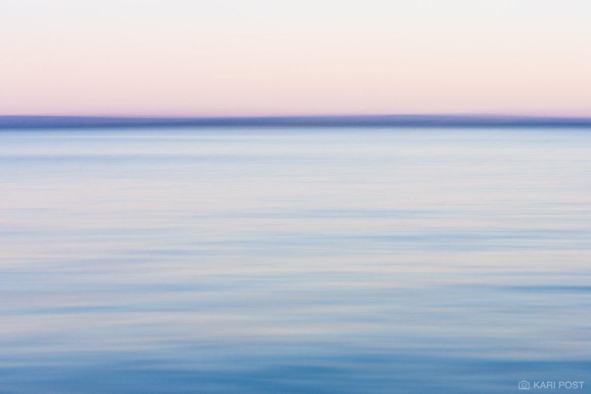 NY, New York, North America, Oneida Lake, USA, United States, Upstate New York, abstract, blur, blue, lake, minimalist, pink, sunset, water, photo