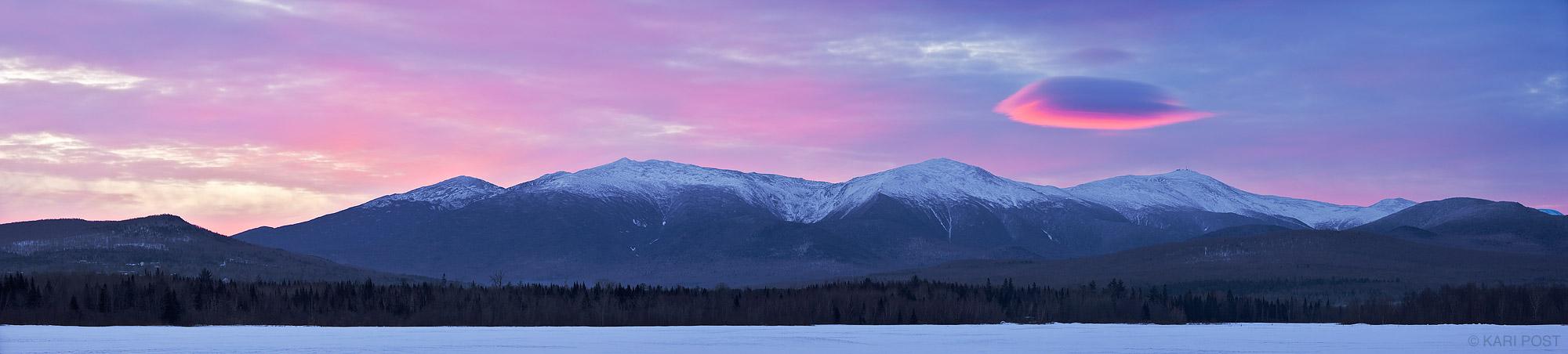 sunrise, mount washington, jefferson meadows, white mountain national forest, presidential range, new hampshire, mountai, photo