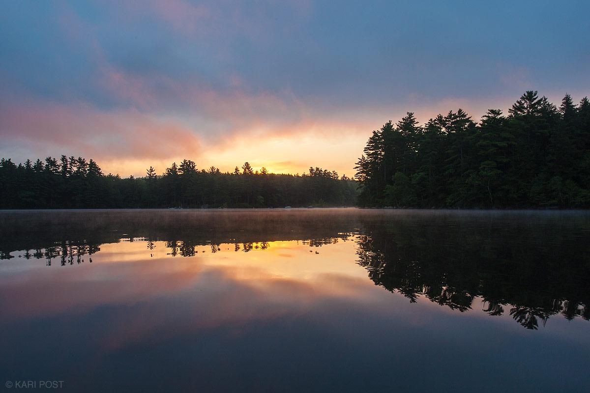 sunrise, Squam Lake, New Hampshire,, photo