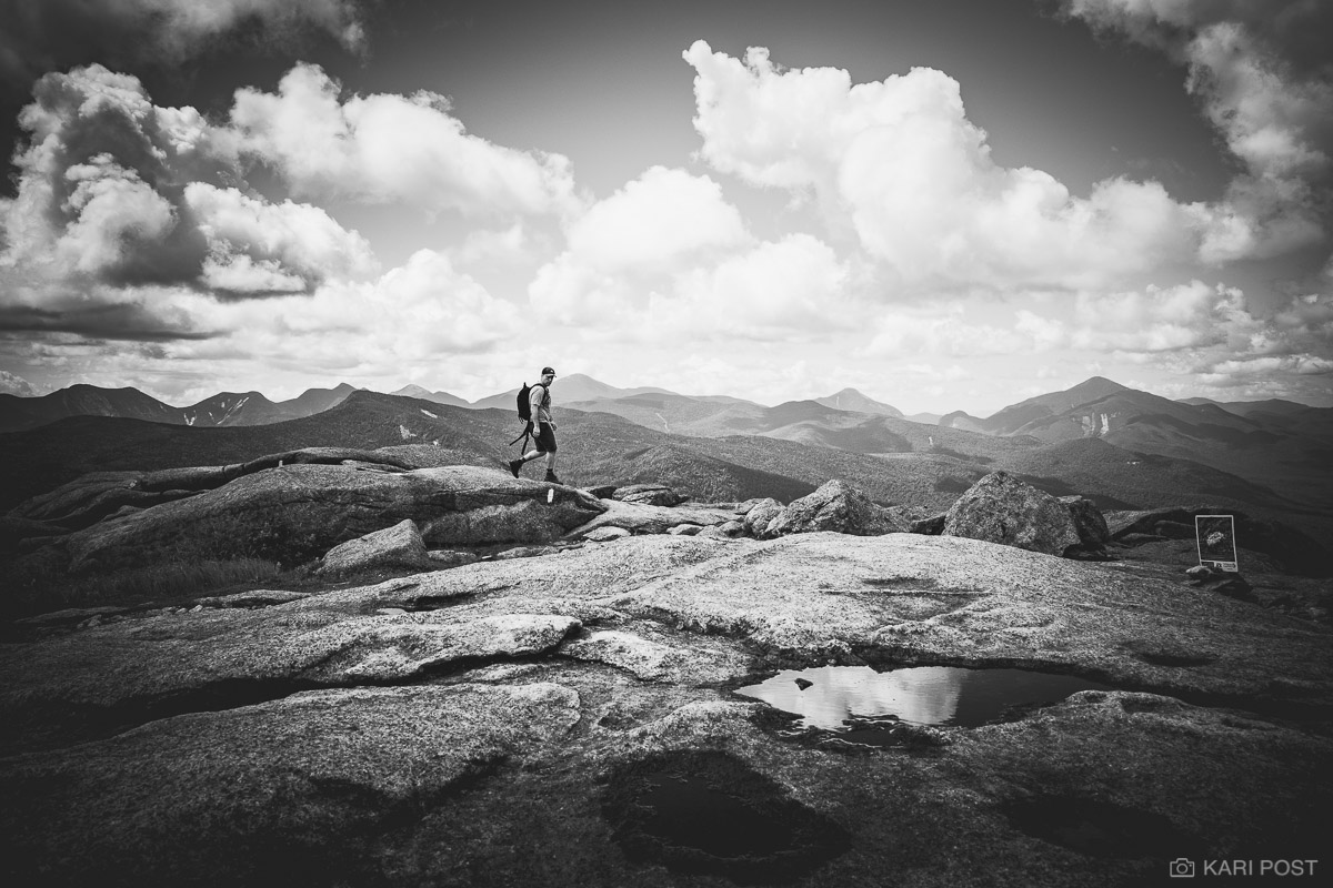 Adirondack Mountains, Adirondack Park, Adirondacks, Cascade Mountain, High Peaks, John Renaud, NY, New York, North America, USA, United States, United States of America, b&w, b+w, black and white, hik, photo